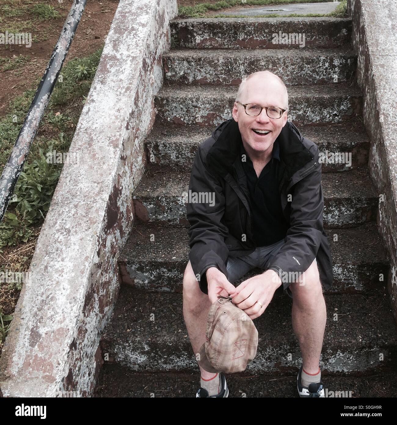 Felice l'uomo nei suoi primi 50s Immagini Stock