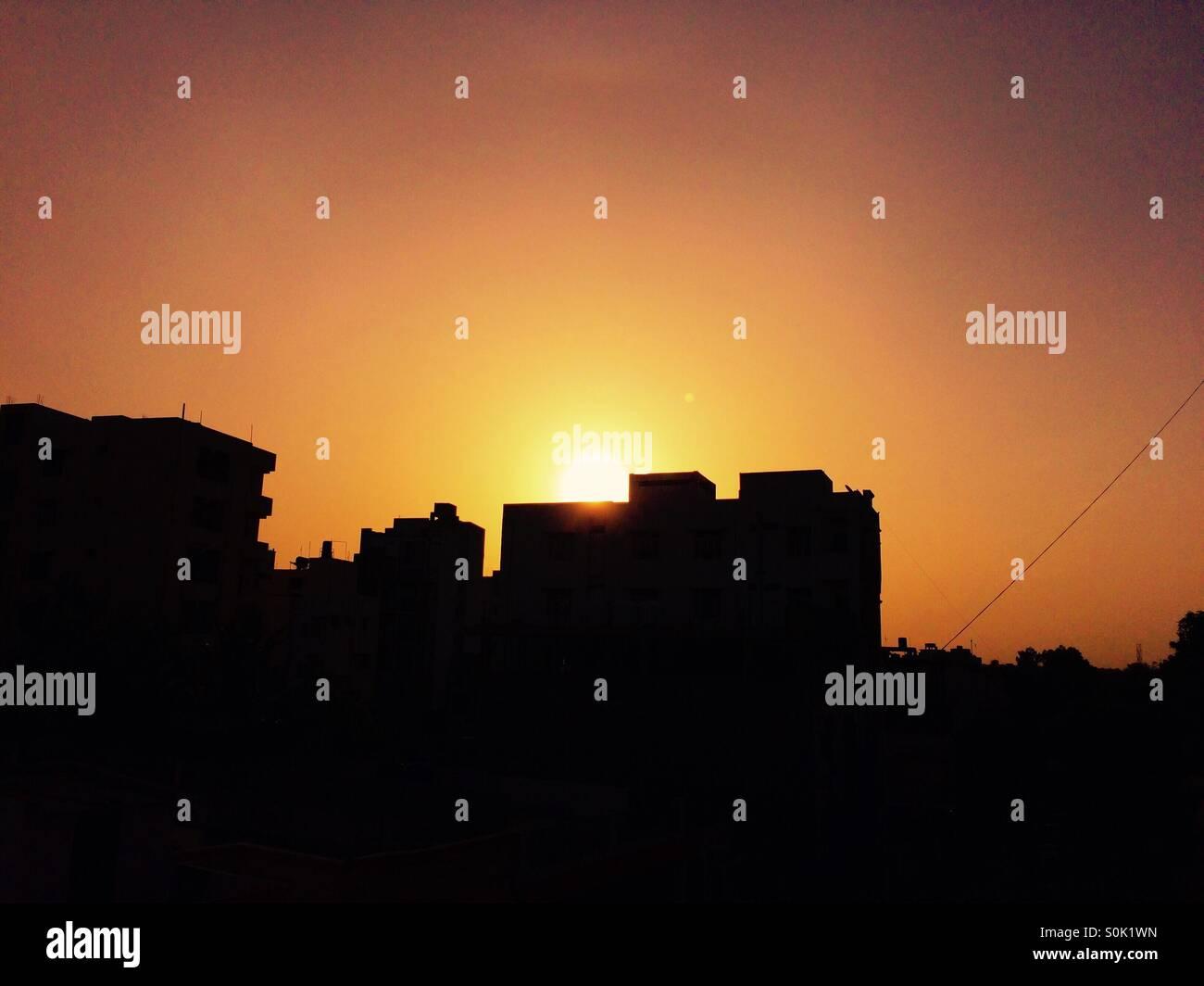 Il bellissimo tramonto!! Immagini Stock