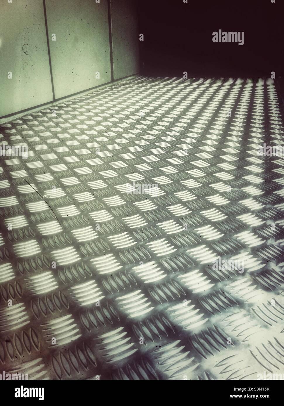 Pavimento del metallo Immagini Stock
