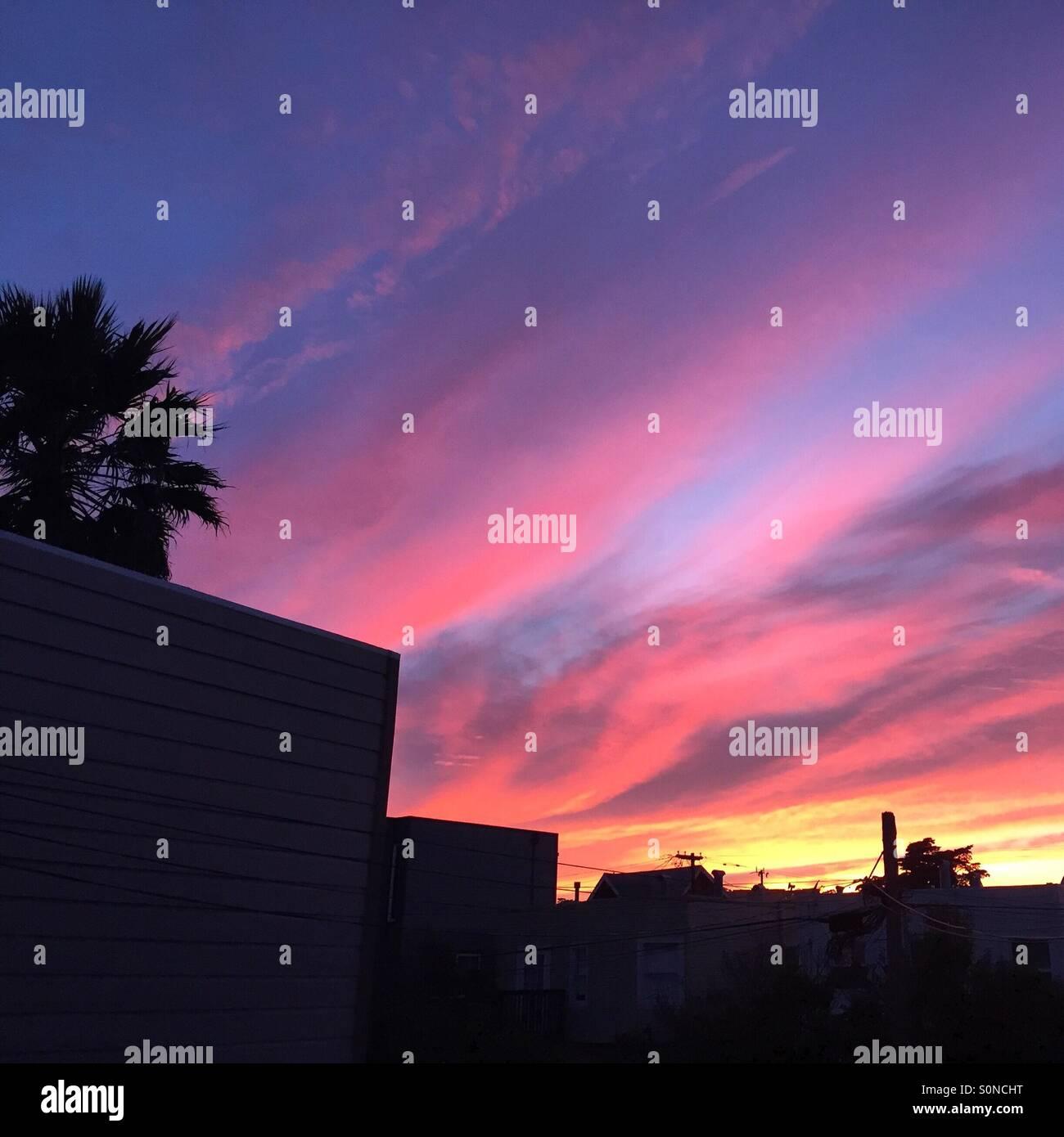 Dalla mia finestra la scorsa notte... Foto Stock