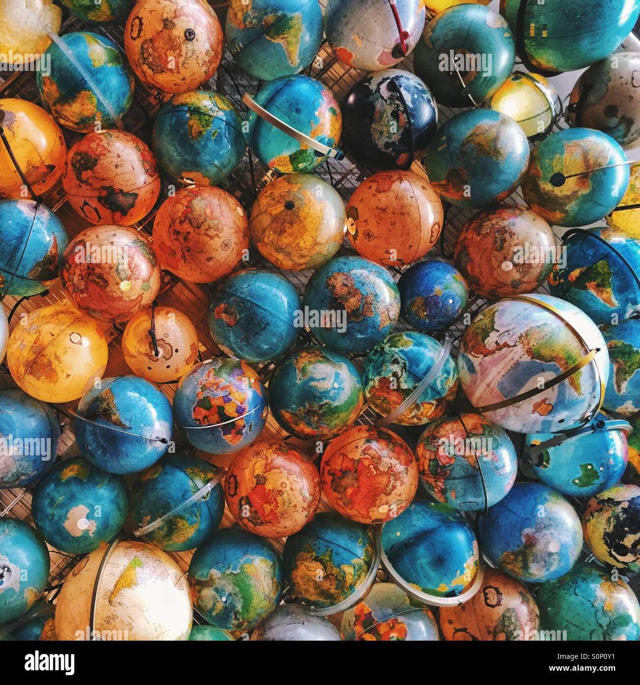Globi Foto Stock