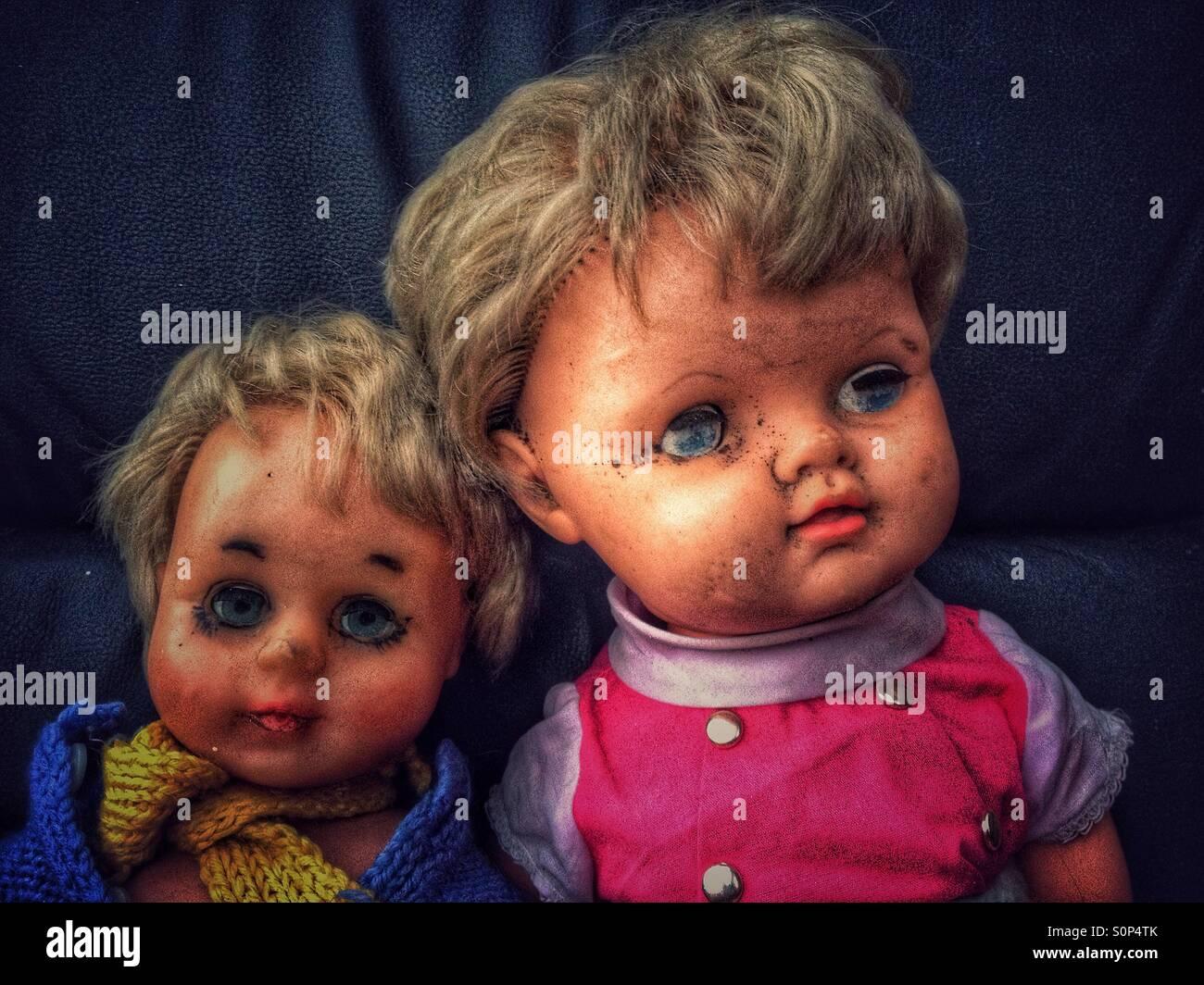 Triste e addolorato bambole Immagini Stock