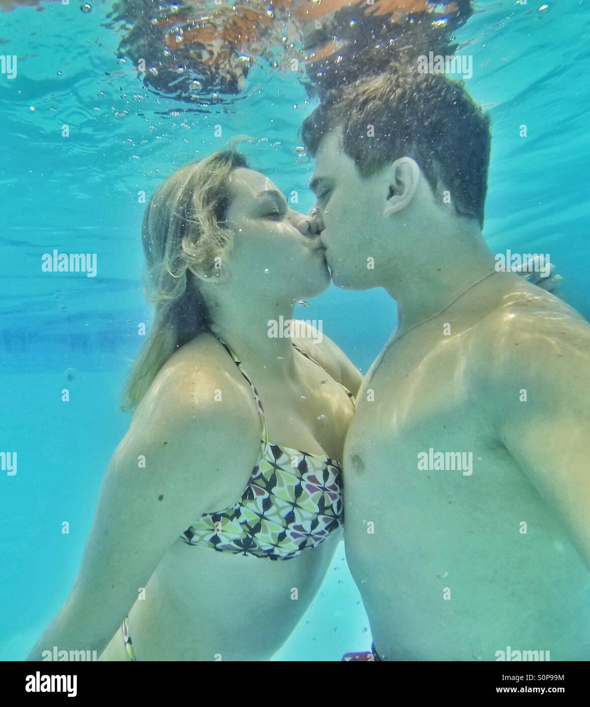 Amor até dentro d'Água Immagini Stock