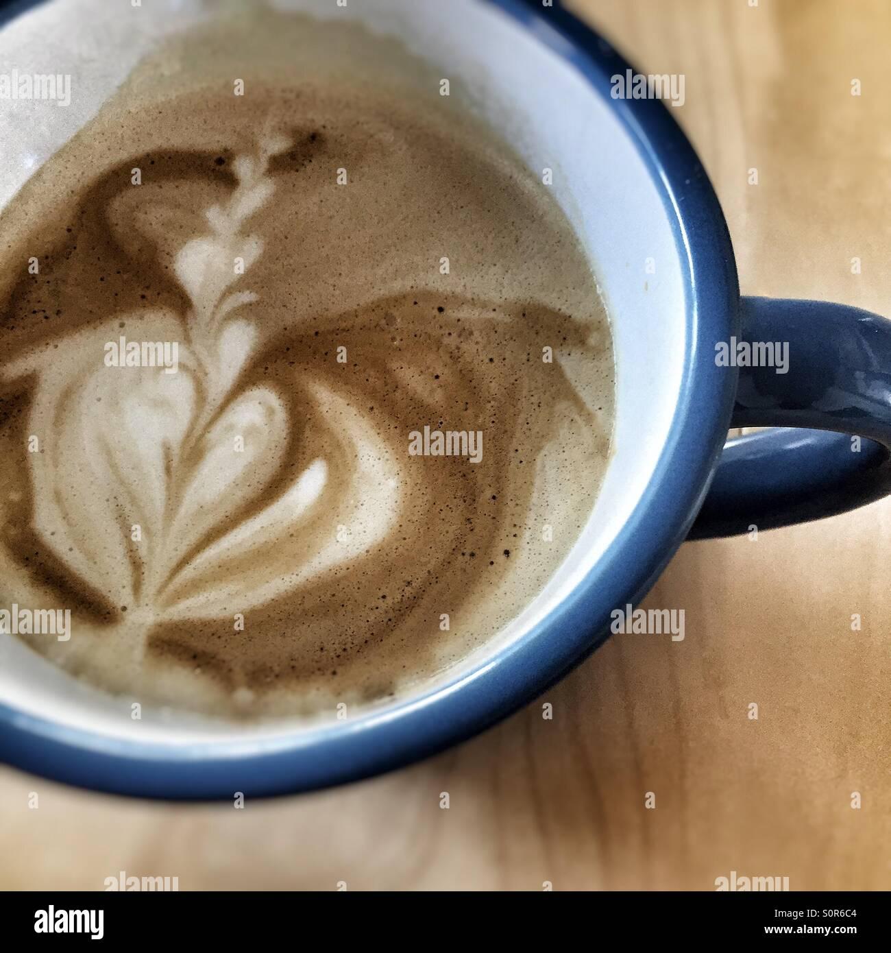 Arte del latte Immagini Stock