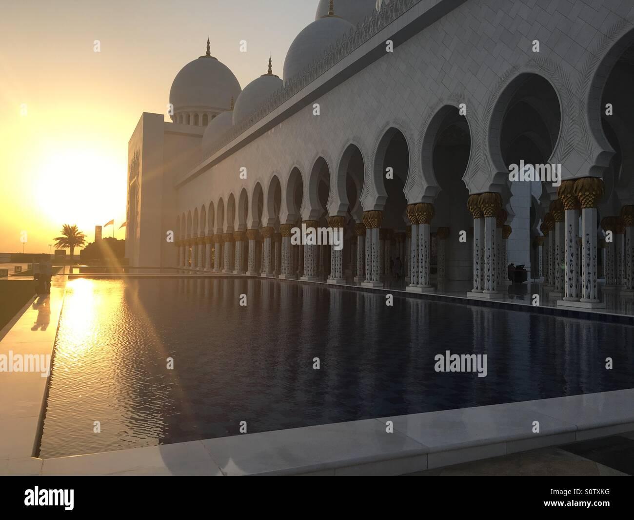 Moschea Sheikh Zayed, Abu Dhabi Immagini Stock