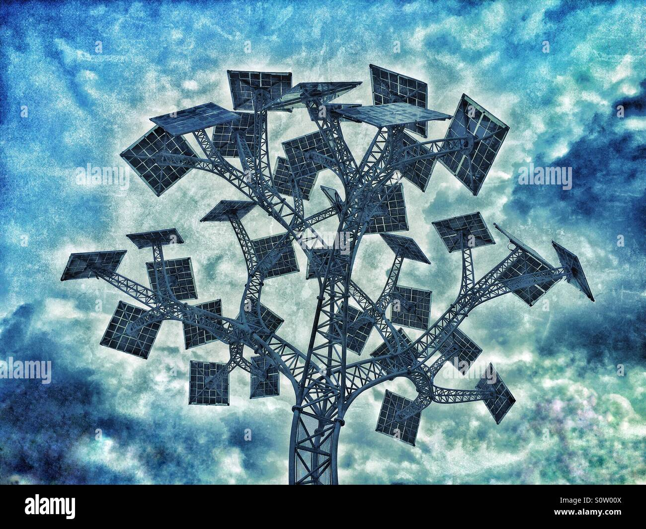La struttura ad albero di energia in Millennium Square, Bristol, Inghilterra. Energia gratuita, previsti per il Immagini Stock