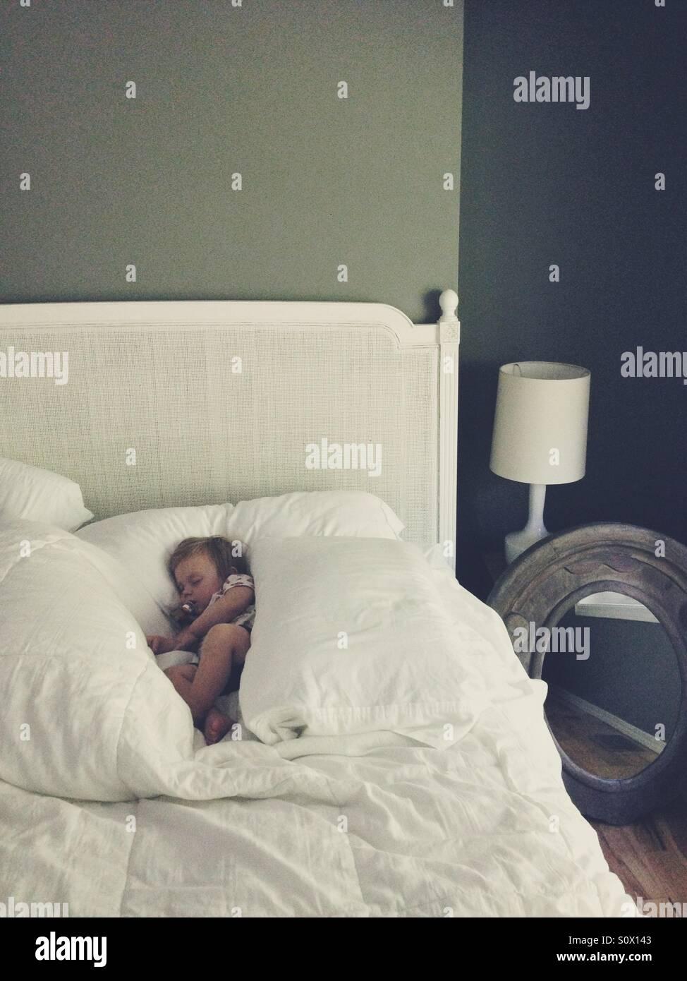 Sleeping Baby girl. Immagini Stock