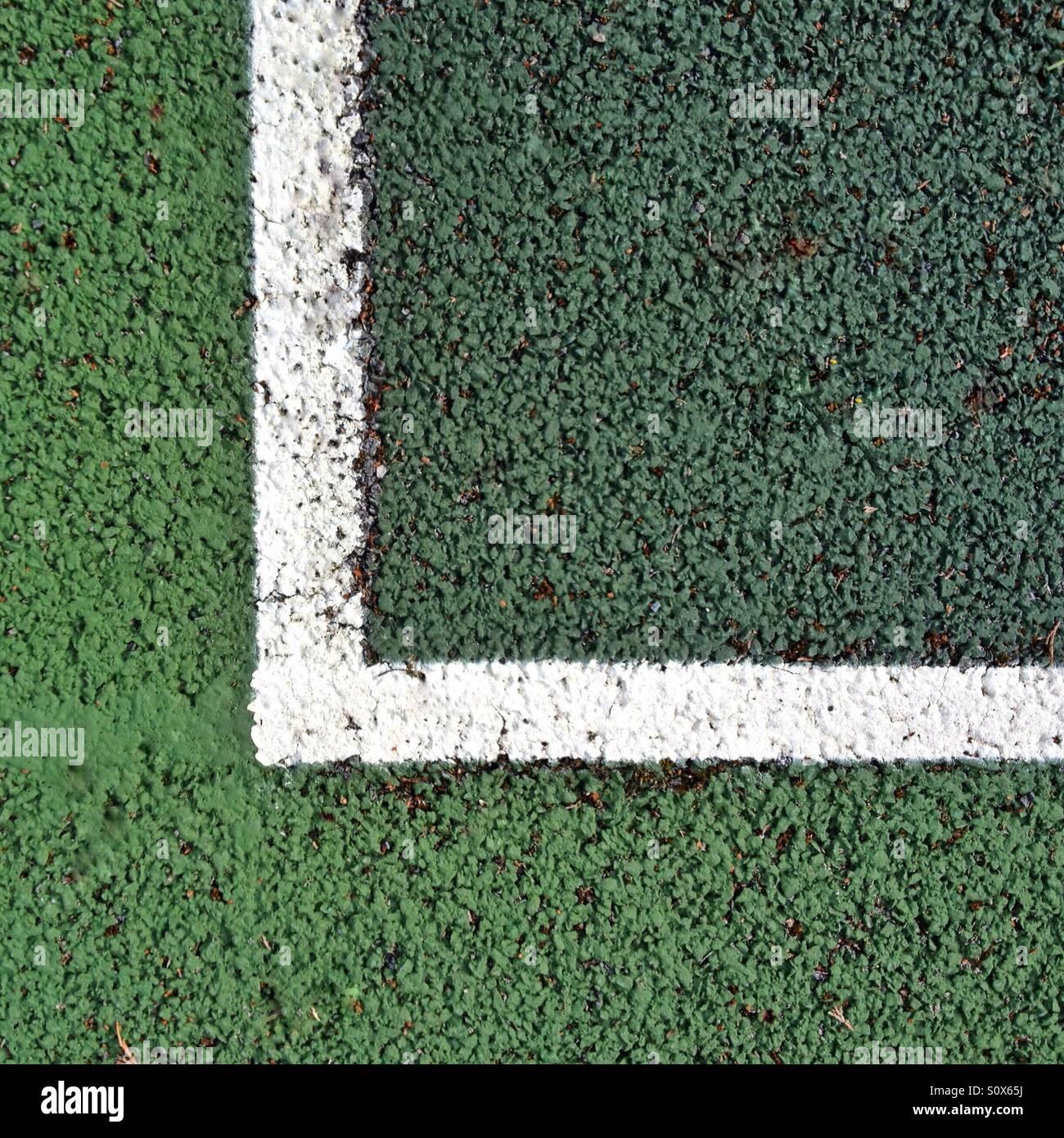 Campo da tennis esterno Immagini Stock