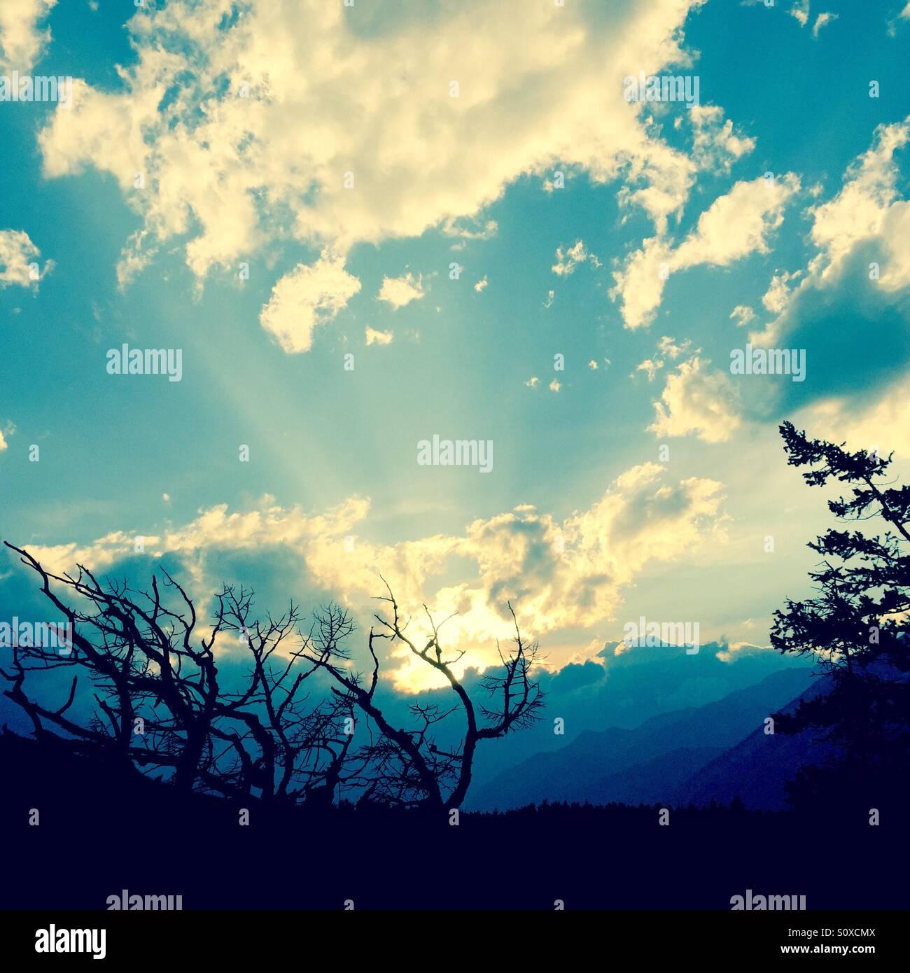 Il sole dal cielo Immagini Stock