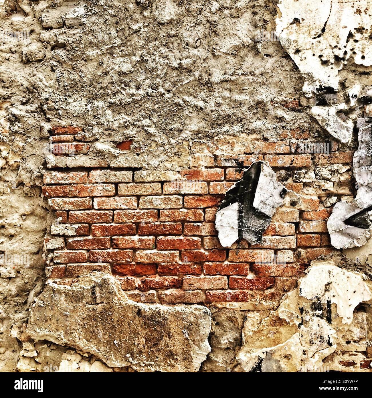 Tirando verso il basso la parete Immagini Stock