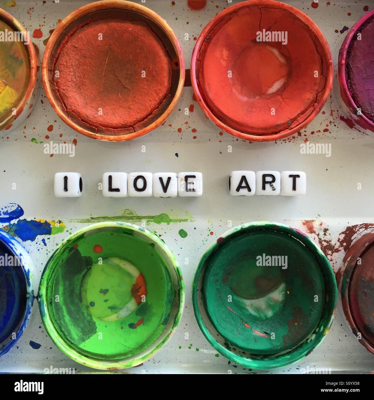 Amo l'arte Immagini Stock