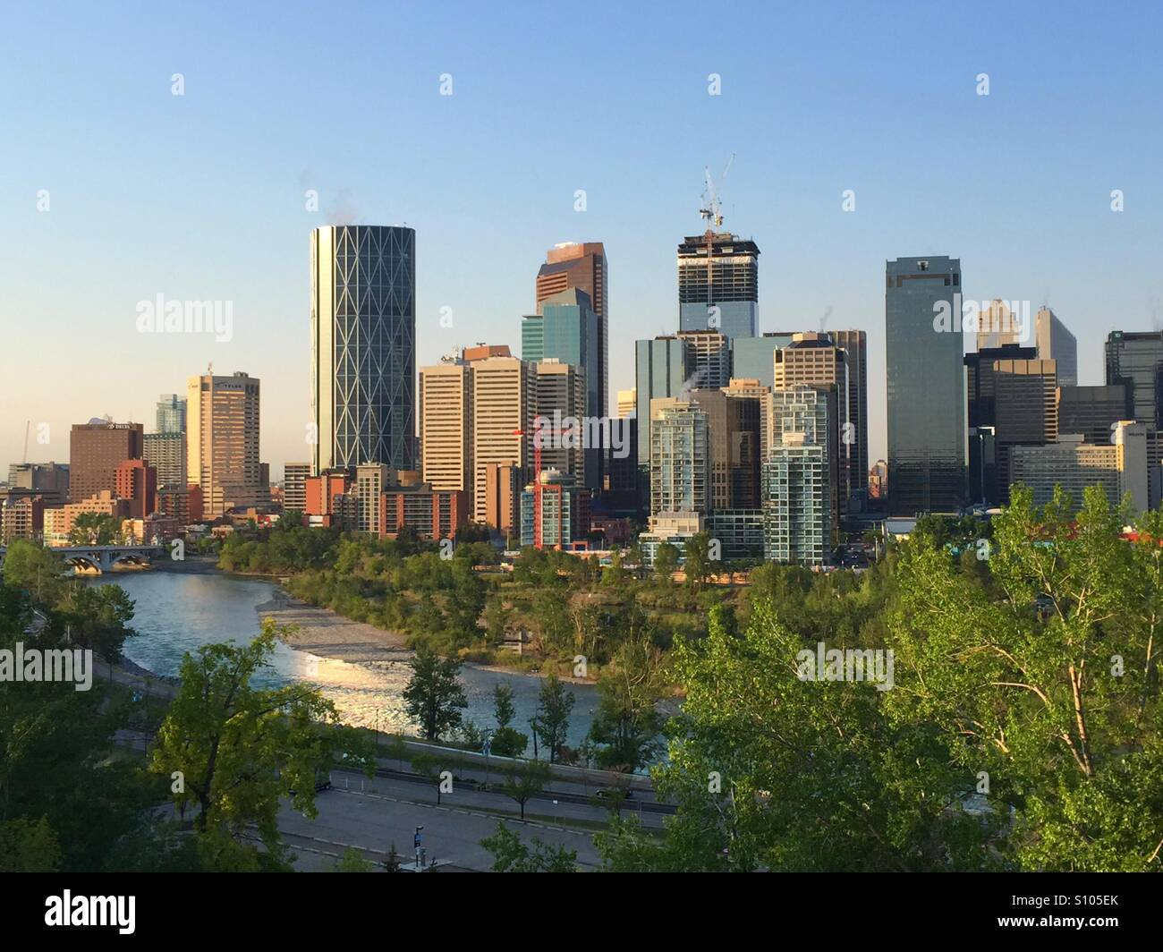Città di Calgary Immagini Stock