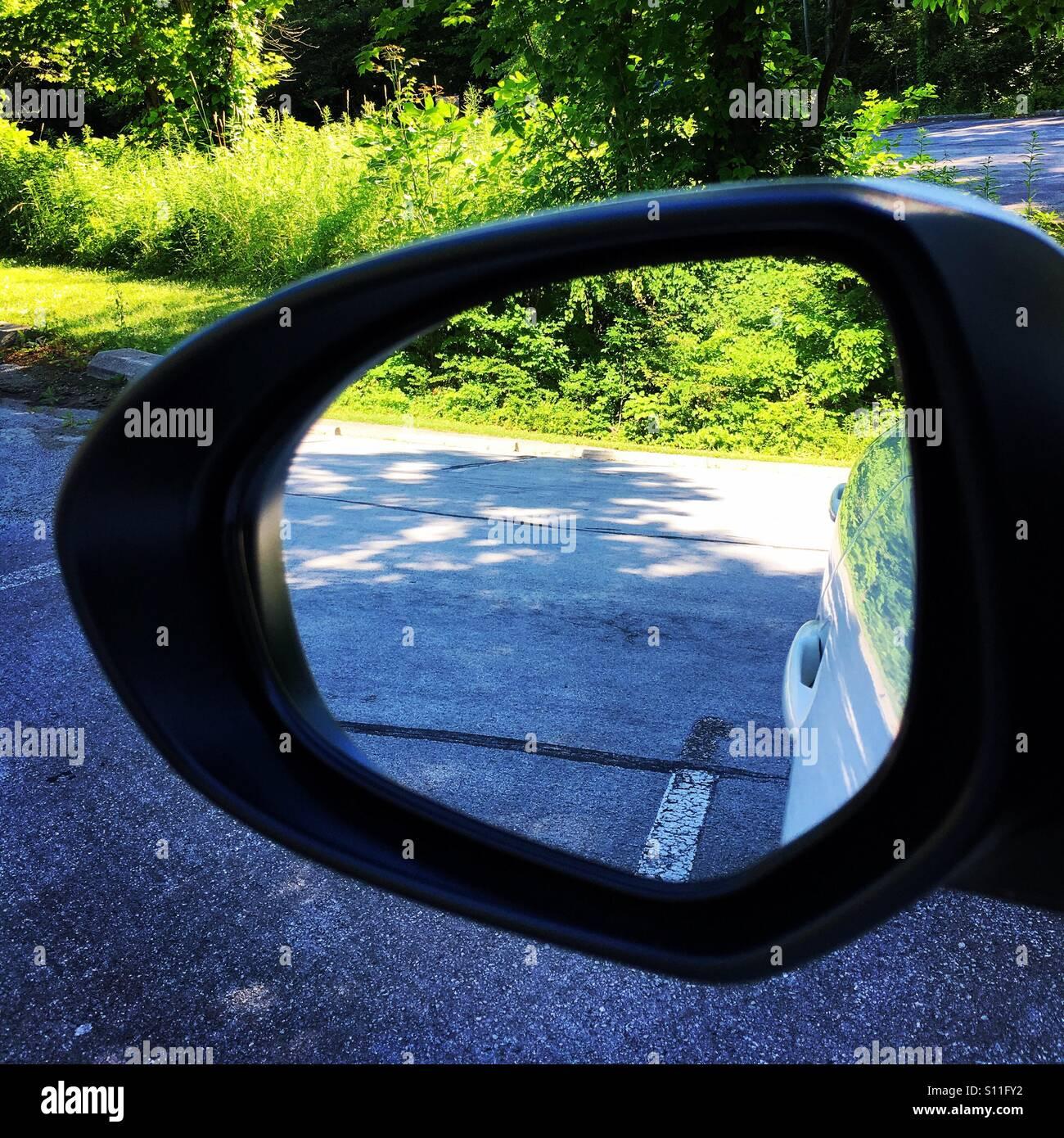 Specchietto retrovisore, Metropark Immagini Stock