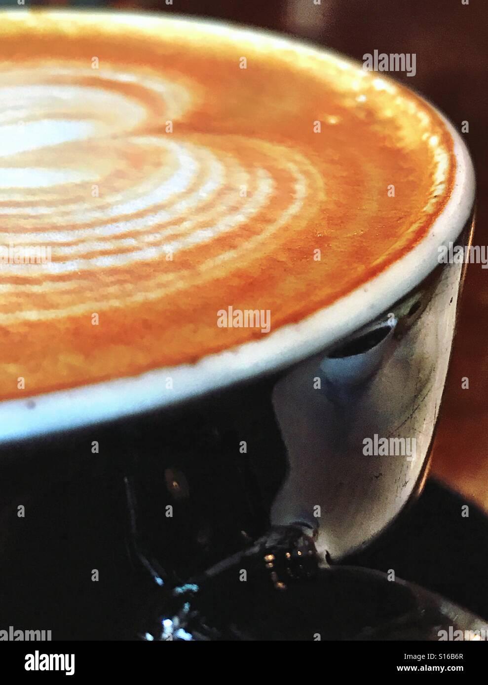 Latte Art in HKG Immagini Stock