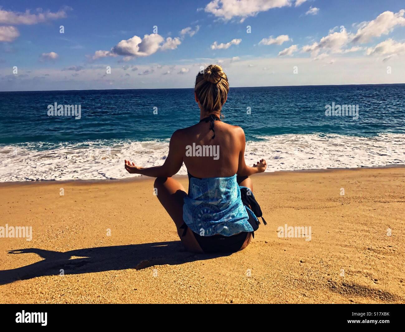 La meditazione Immagini Stock