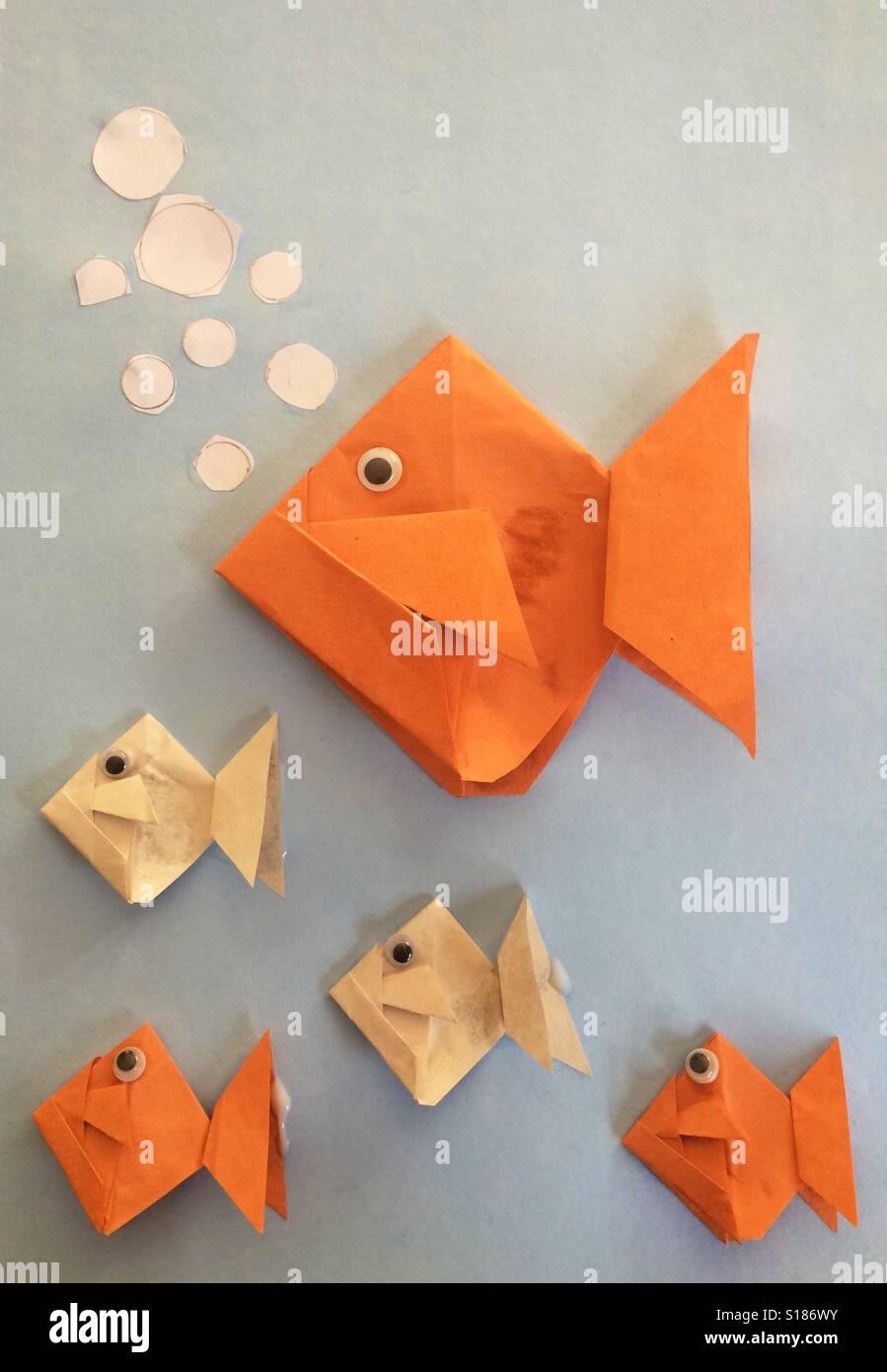 Origami Di Pesce Foto Immagine Stock 310582327 Alamy