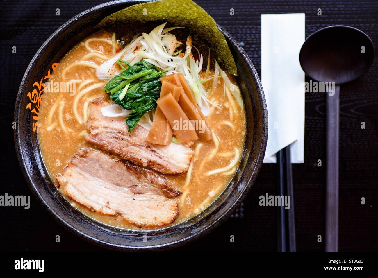 Ramen giapponese Immagini Stock