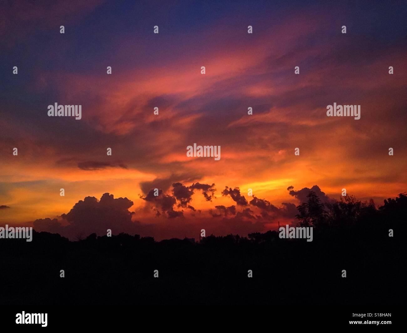 Arte nel cielo. Foto Stock