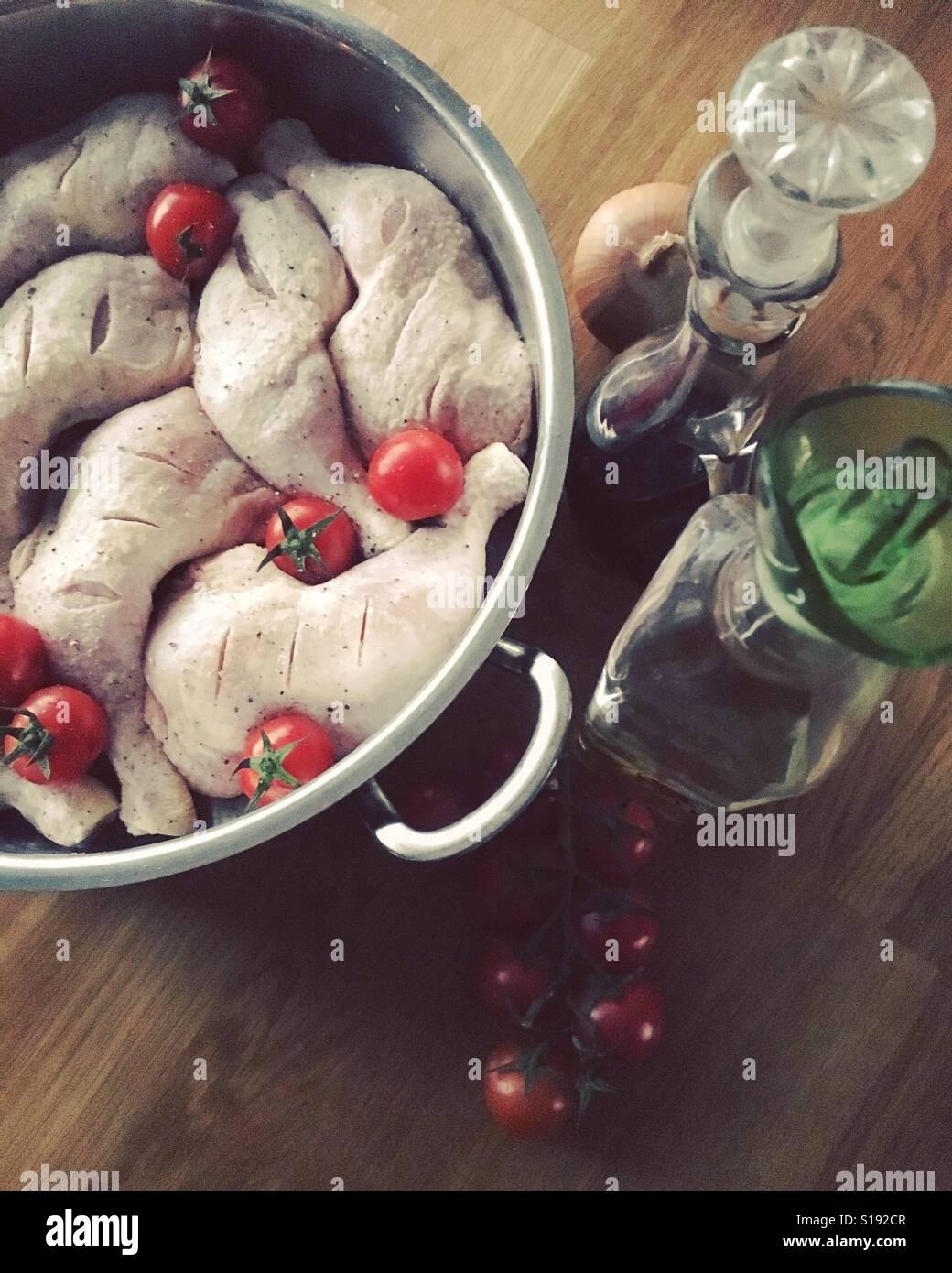 Pollo cuoce Foto Stock