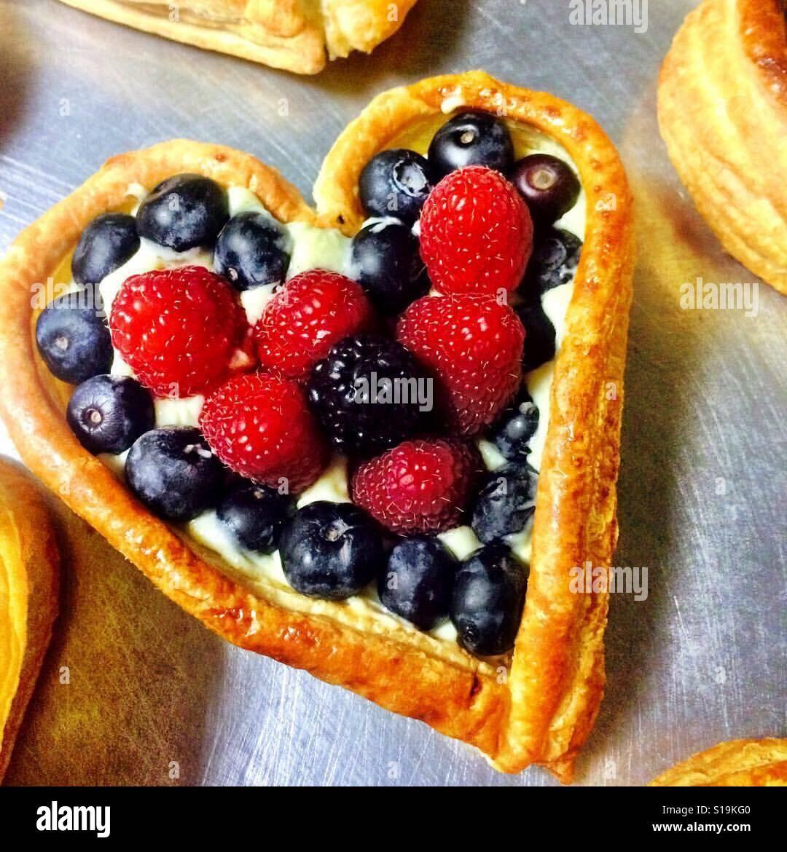 Crostata di frutta Foto Stock