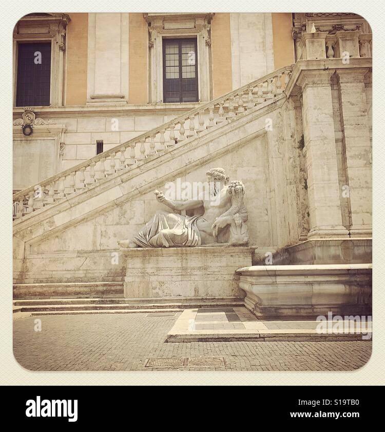 Fontana della Dea Roma Immagini Stock