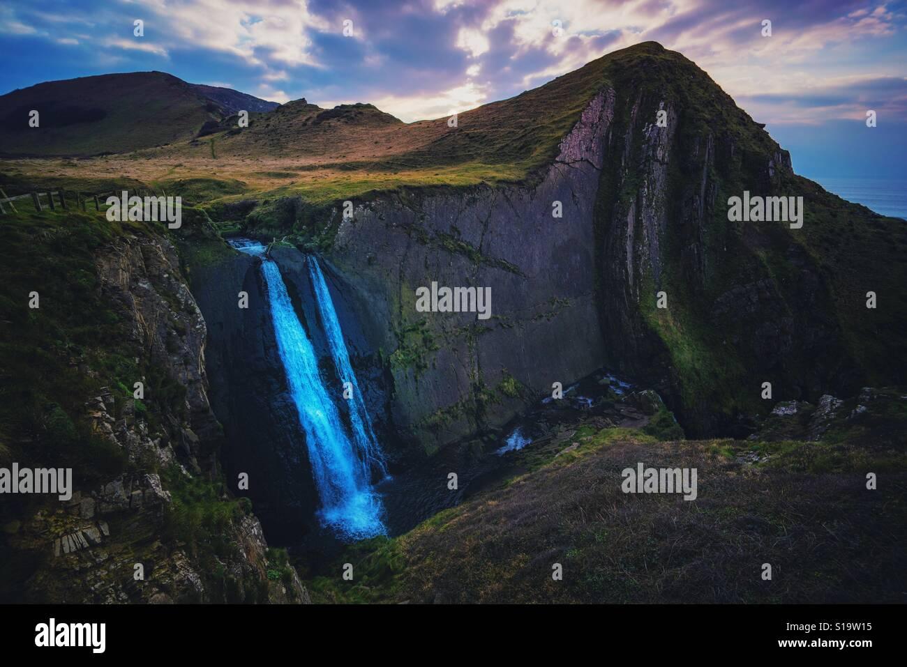 Mulino Spekes cascata Foto Stock