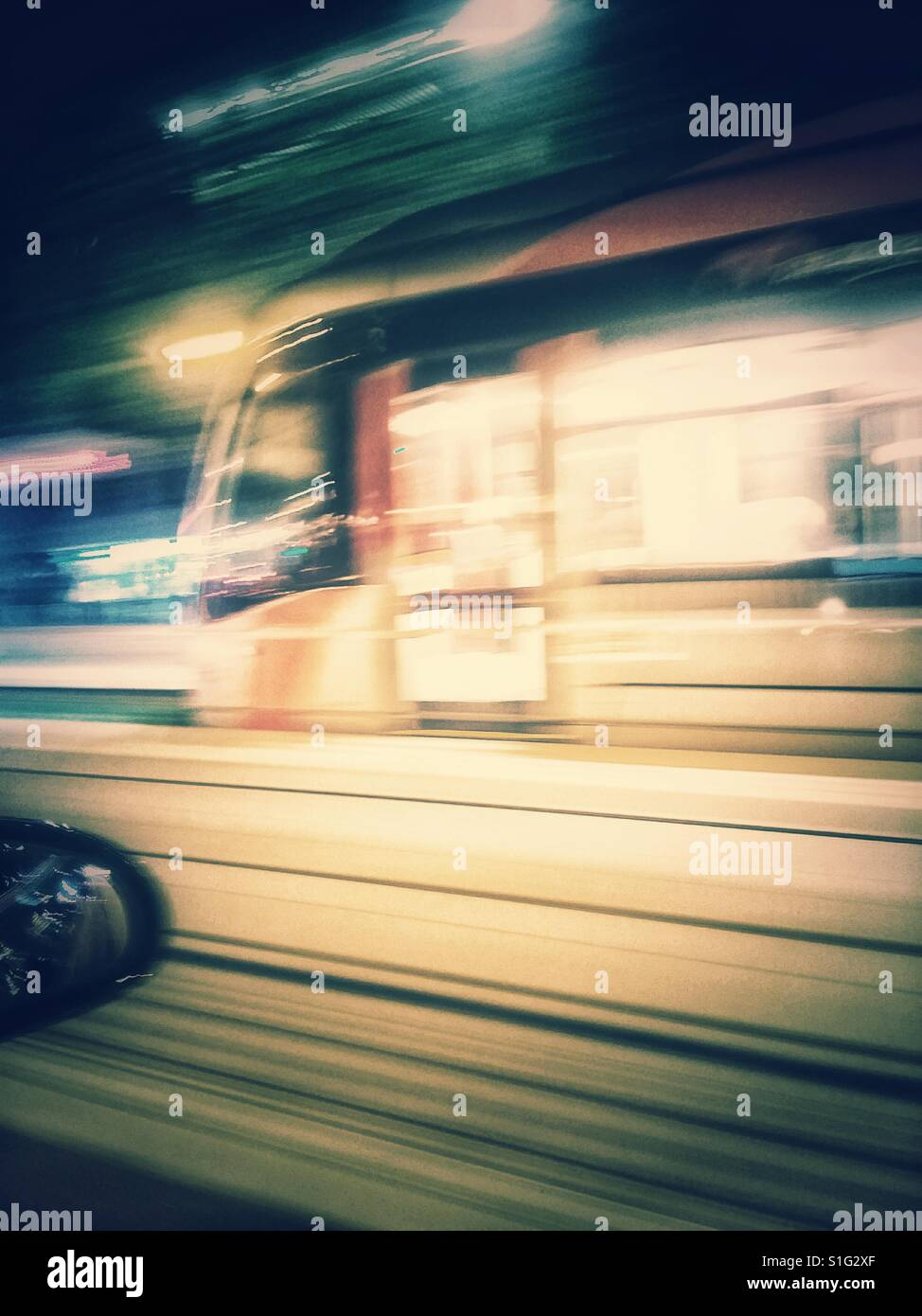 Tranvía Zaragoza Foto Stock