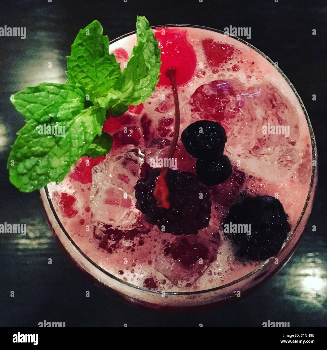 Mocktail Berry Immagini Stock