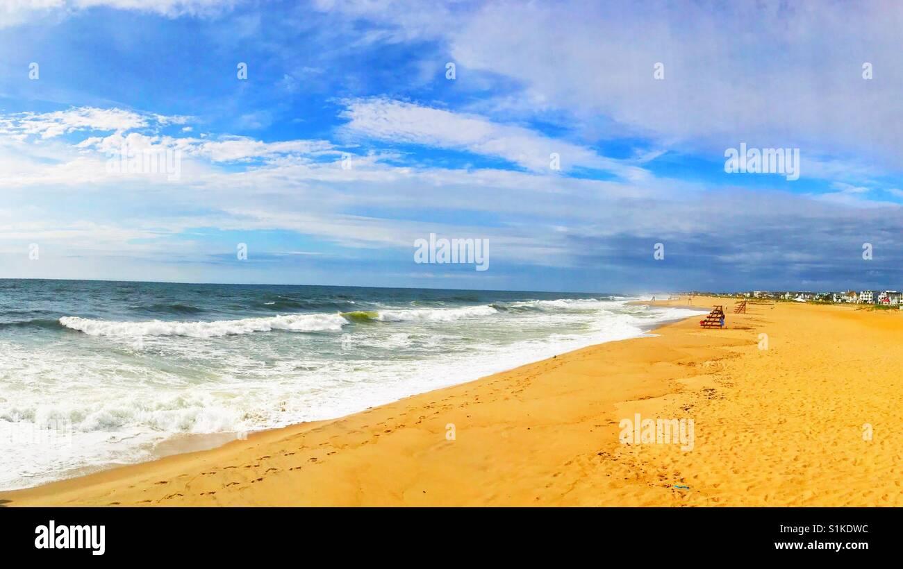 Gran vista alla spiaggia di Ocean Grove jersey shore Immagini Stock