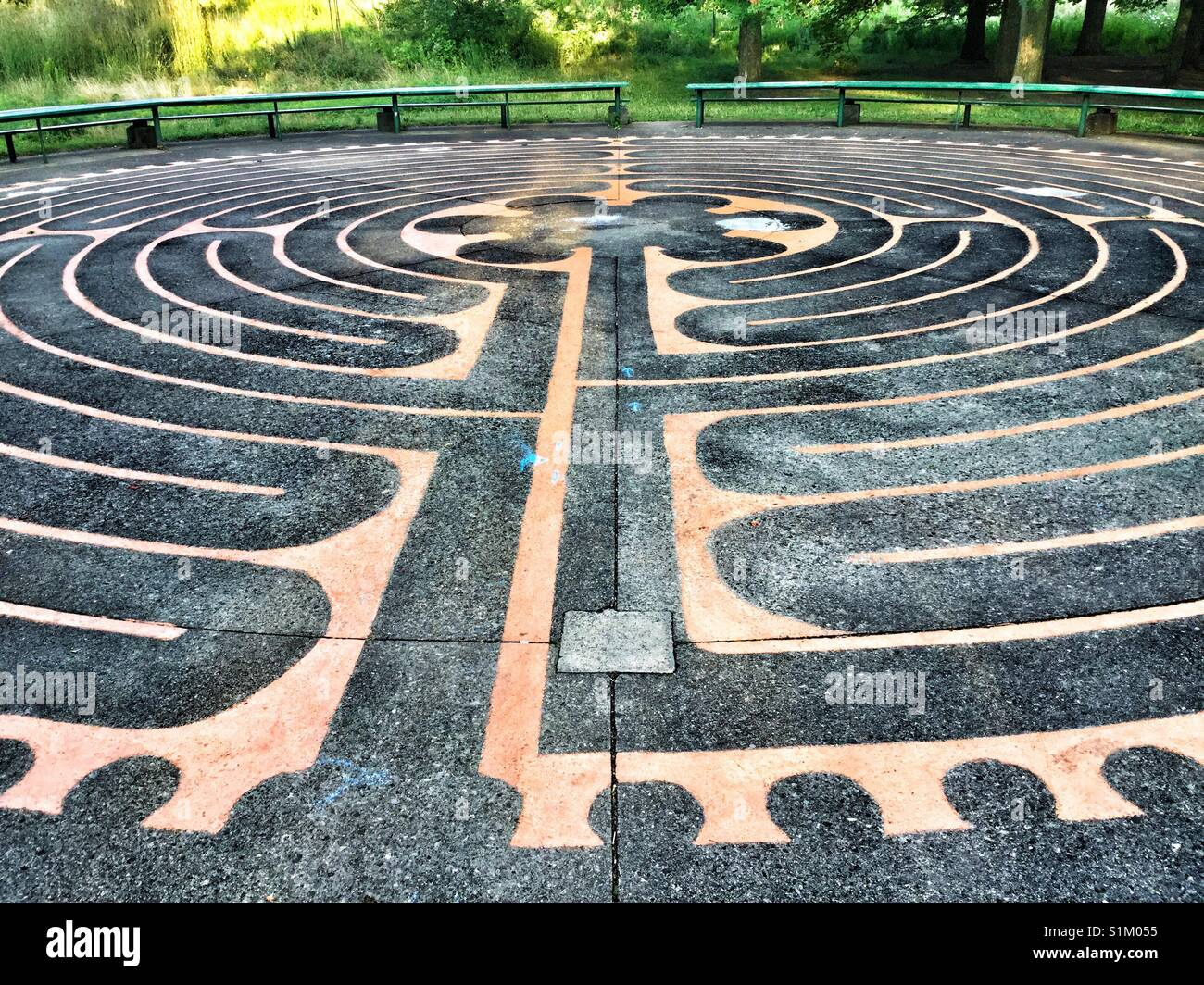 Labirinto in High Park, Toronto, Ontario. Immagini Stock