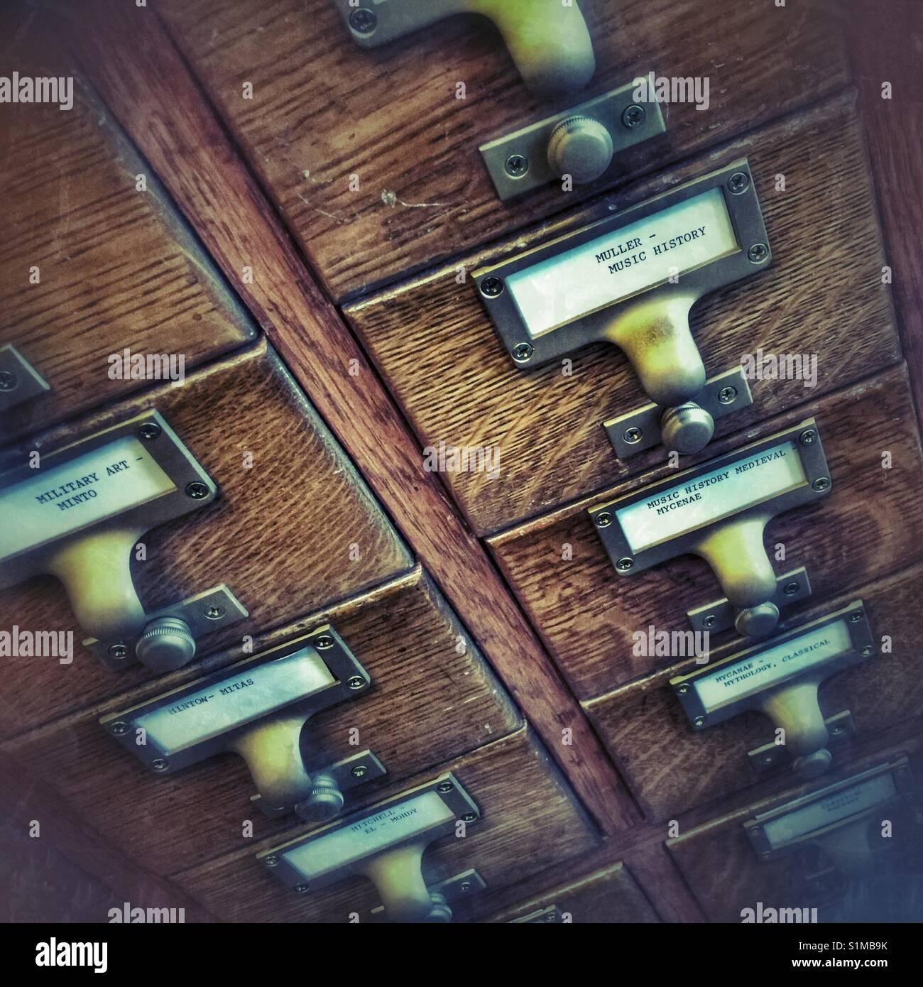 Scheda di catalogo Immagini Stock