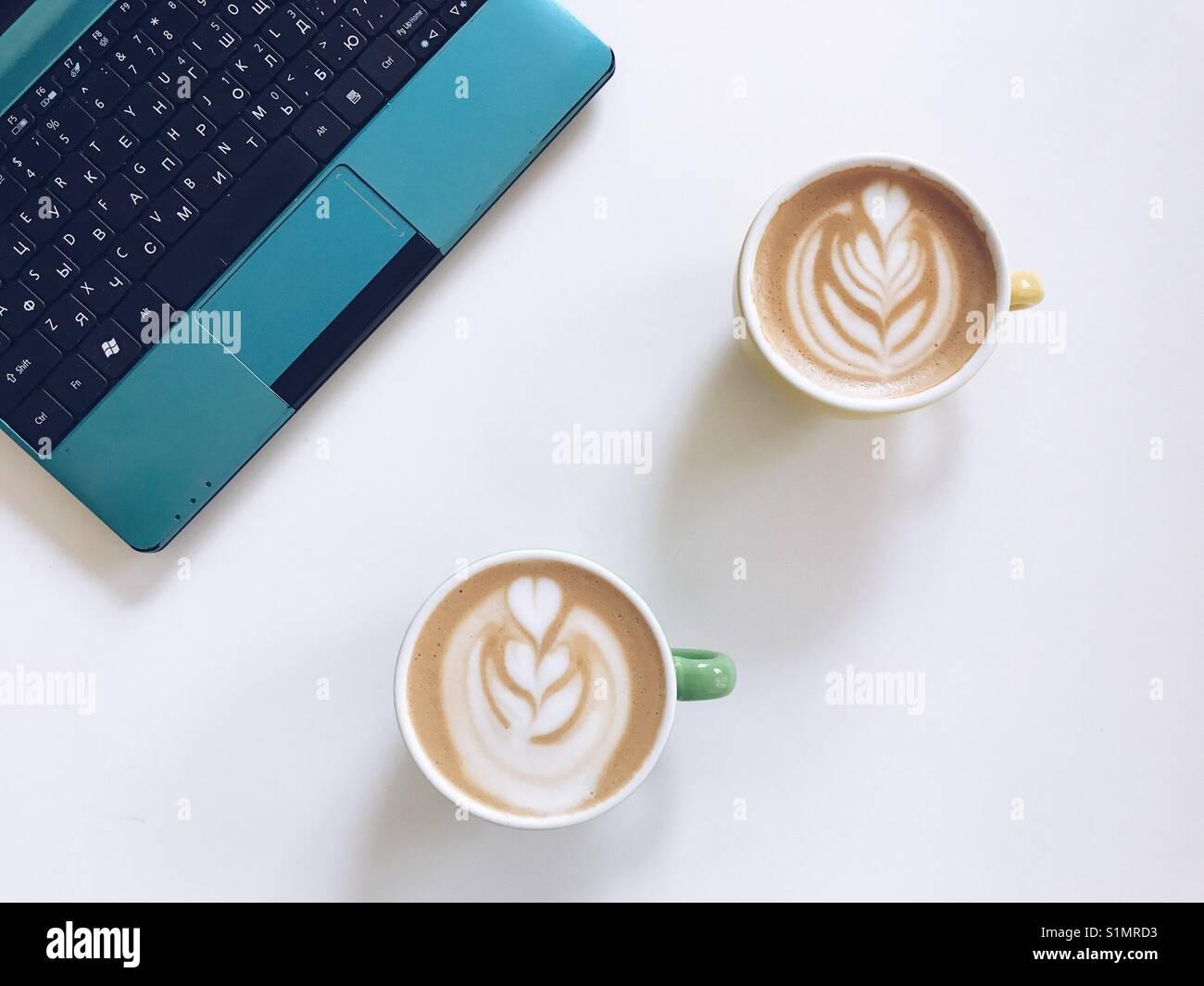 Caffè sul lavoro Immagini Stock
