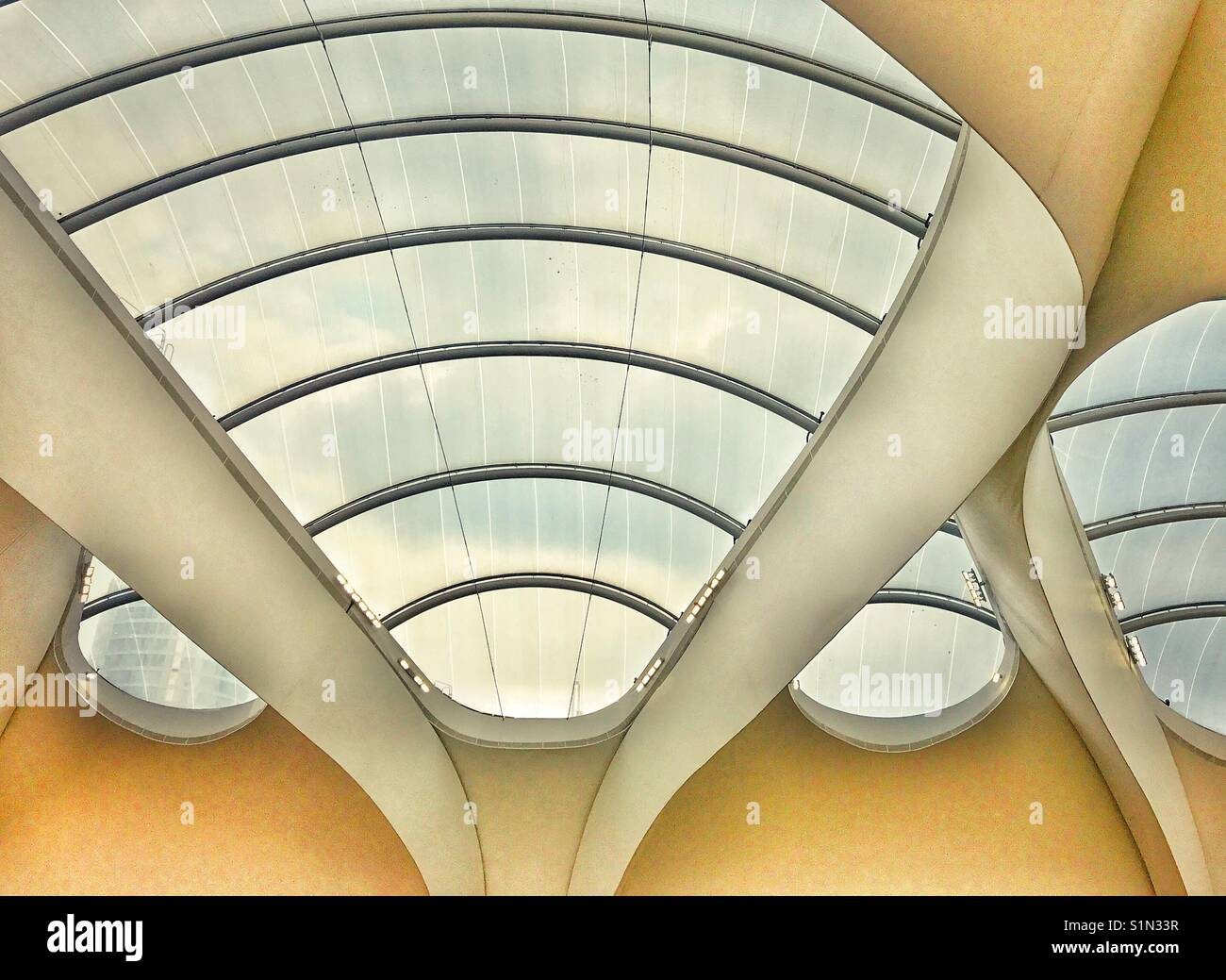 Interno della nuova stazione Grand Central precedentemente noto come stazione di New Street, Birmingham, Regno Unito Immagini Stock