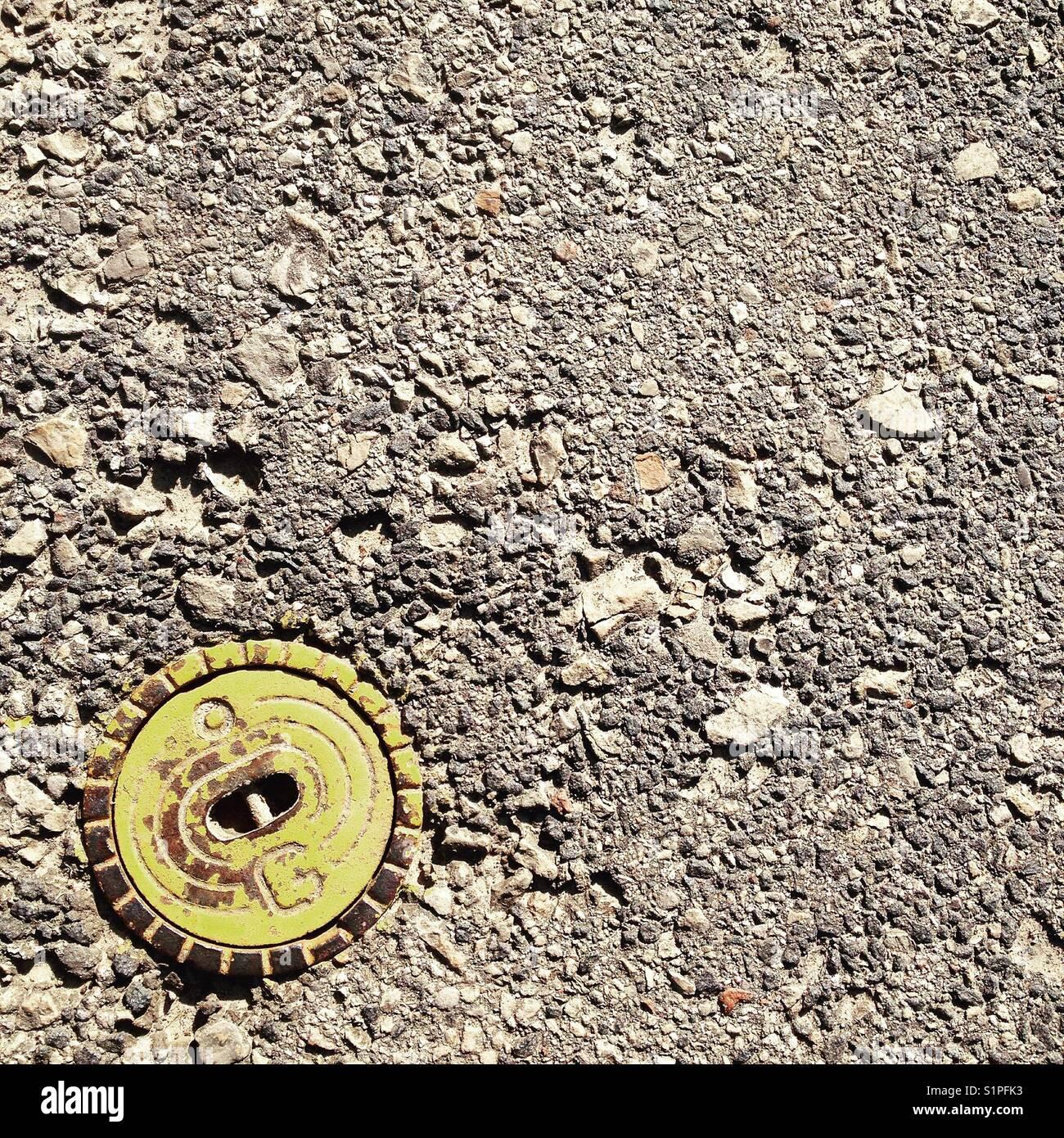 superficie asfaltata Immagini Stock