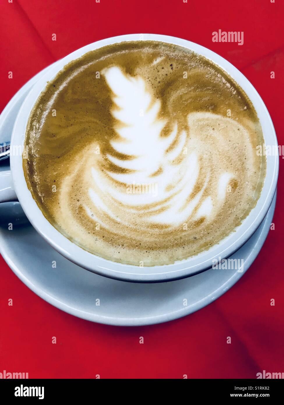 Piatto bianco caffè Immagini Stock