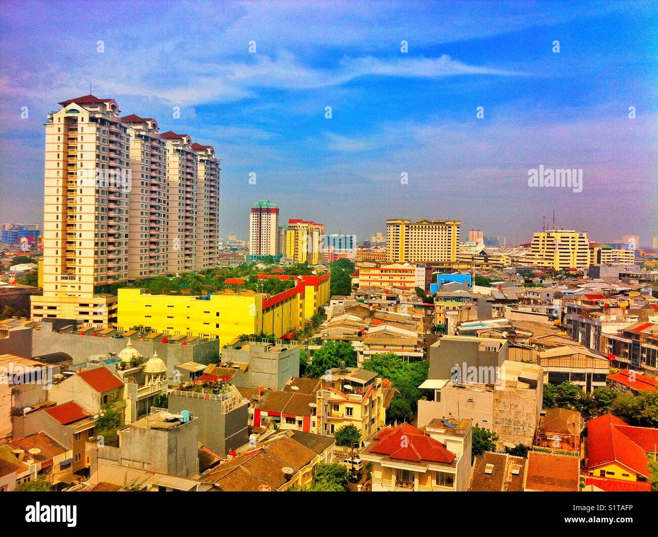 Densita Di Popolazione A Giacarta Capitale Dell Indonesia Foto Stock Alamy