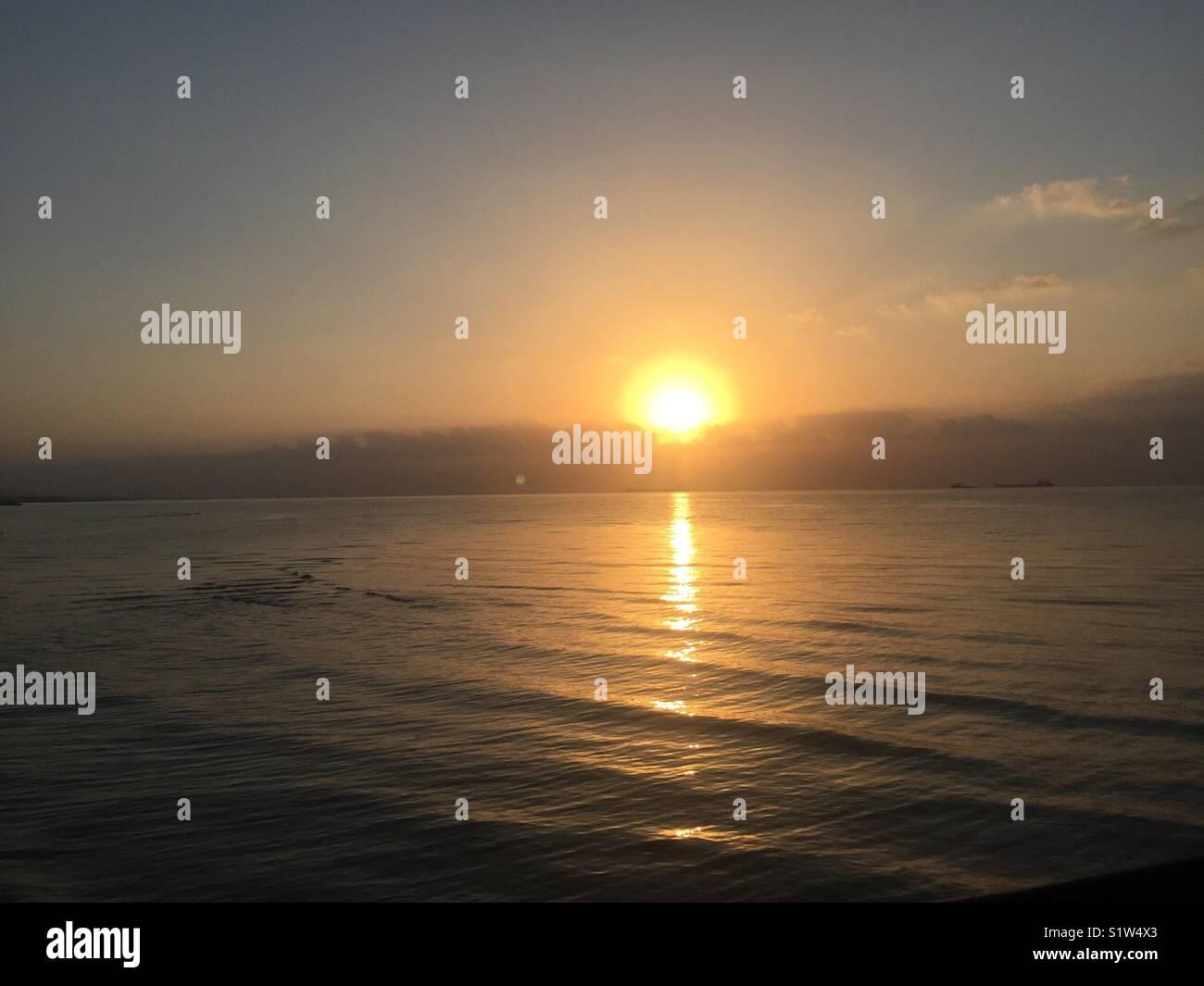 Sole sorge ogni giorno Immagini Stock