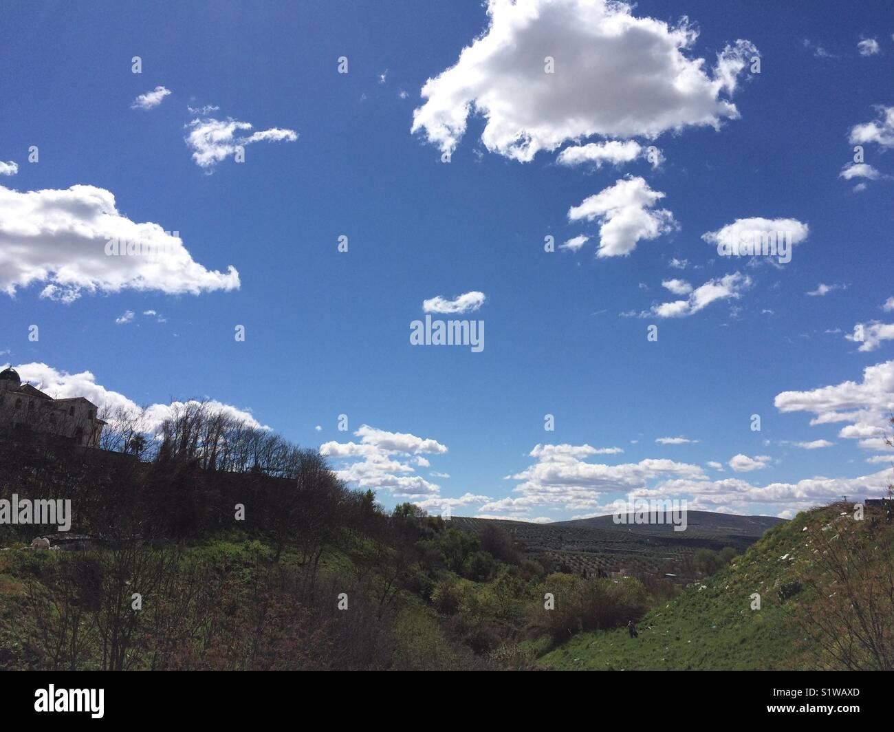 Cielo con nubes Immagini Stock