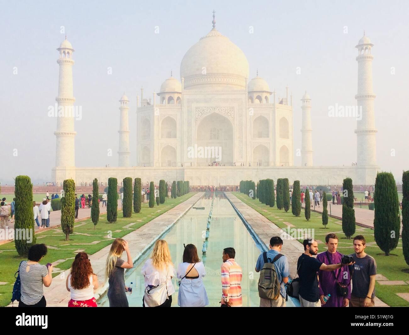 Il Taj Mahal, Agra, India Immagini Stock
