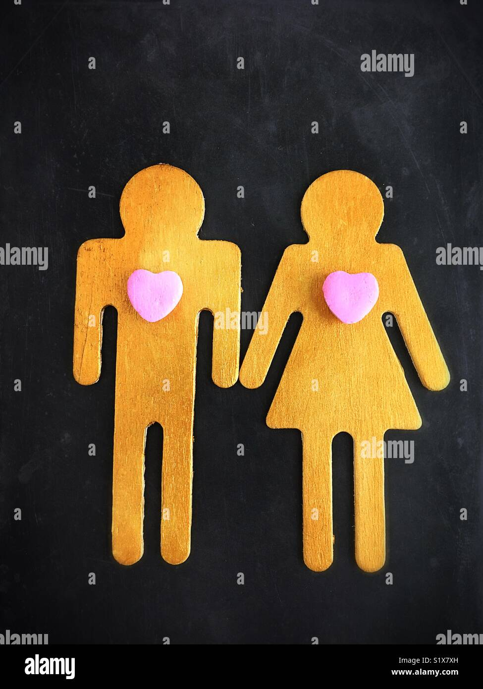 Conceptual: l'amore. Immagini Stock