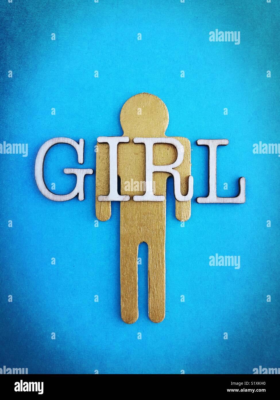 Conceptual: identità di genere. Immagini Stock