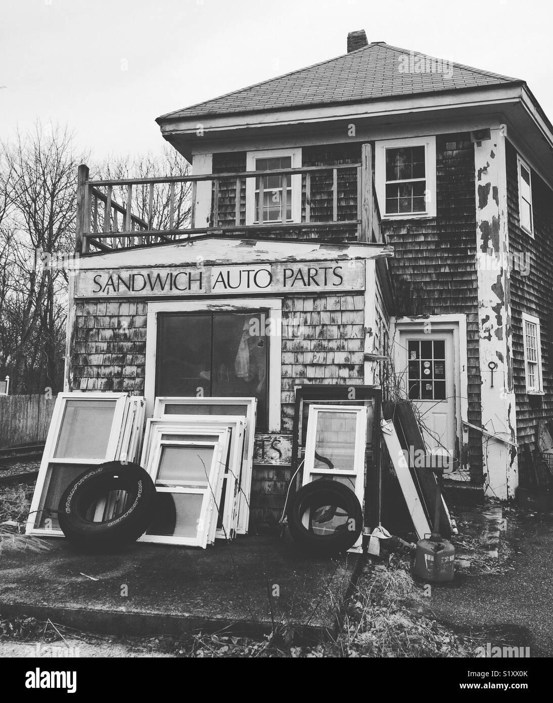 Sandwich di parti di auto, sandwich, Cape Cod, Massachusetts, Stati Uniti Immagini Stock