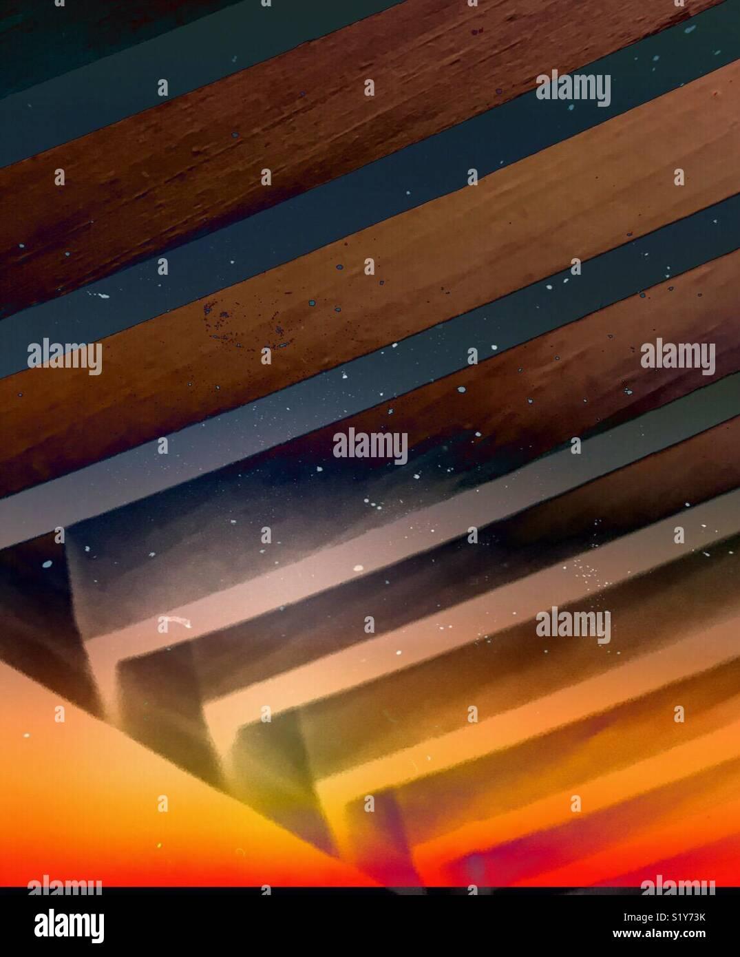 Geometria psichedelico Immagini Stock