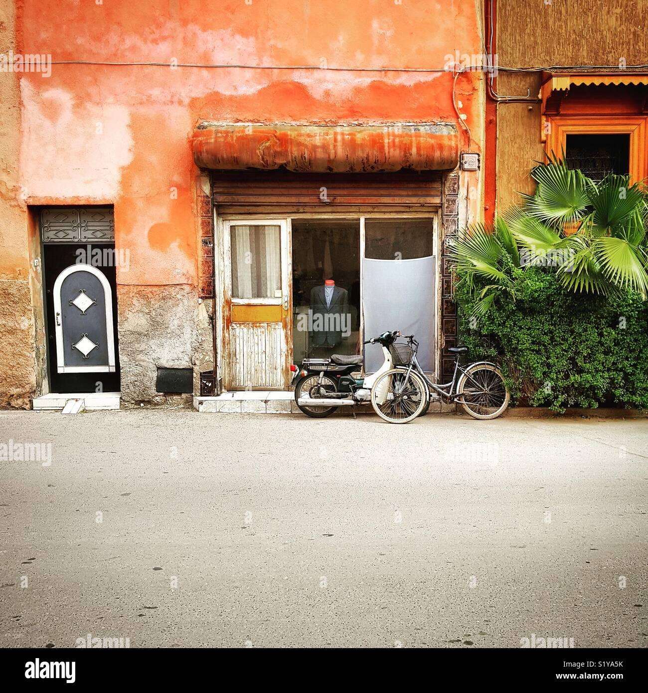 Sartoria in Marrakech street Immagini Stock