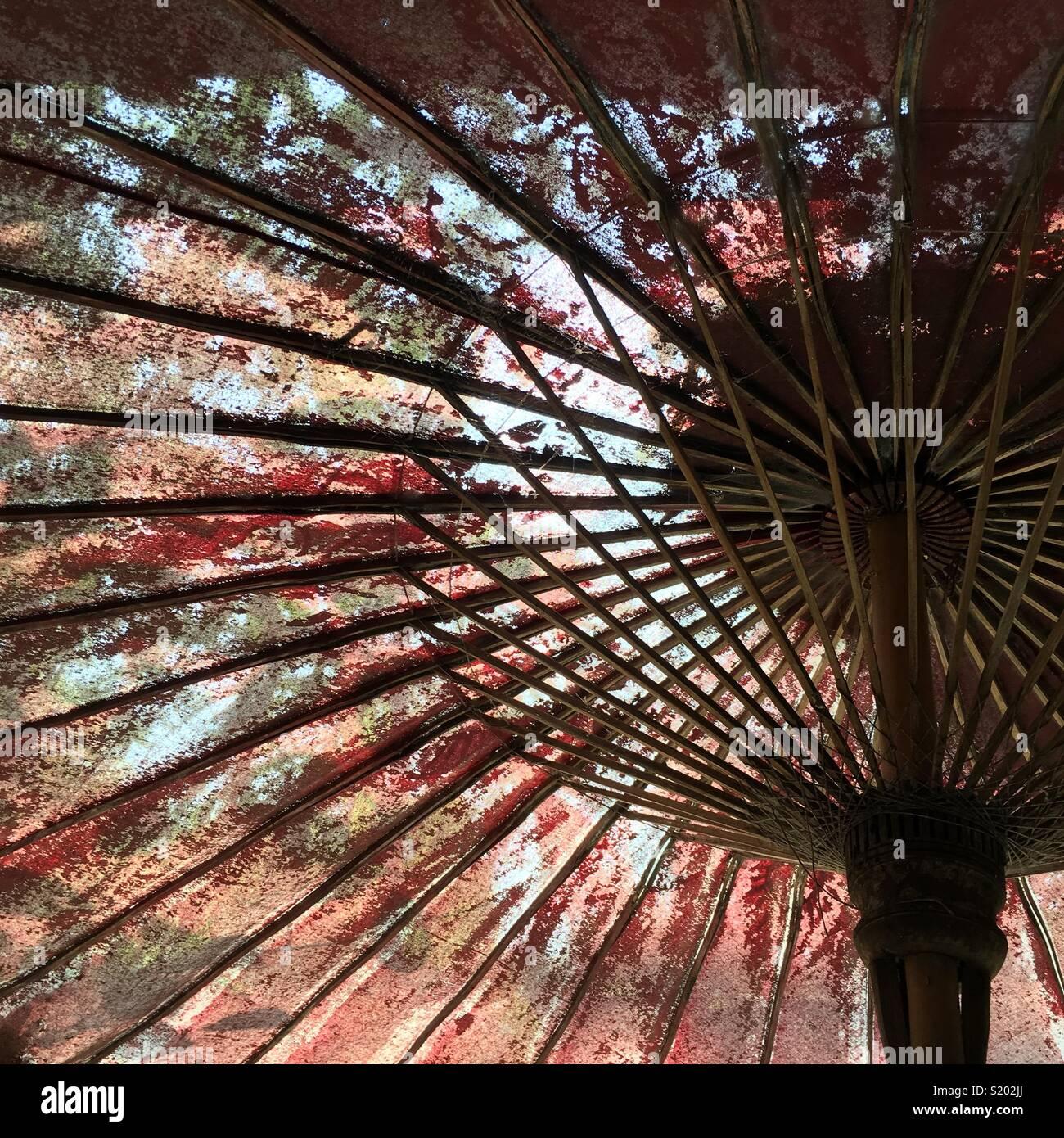 Vecchio ombrello Immagini Stock