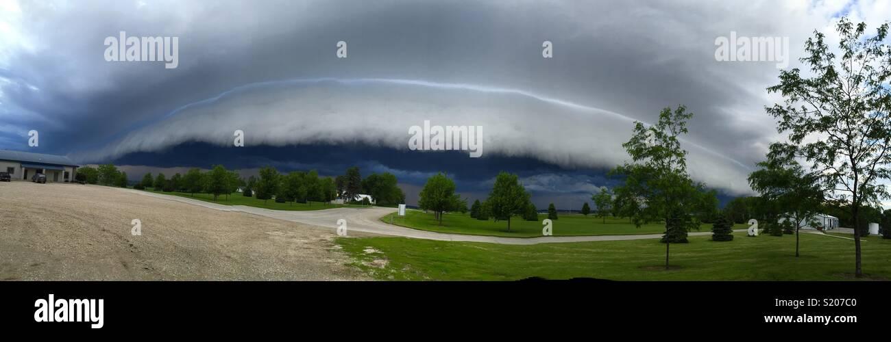 Una tormenta poco usuale en Iowa Immagini Stock