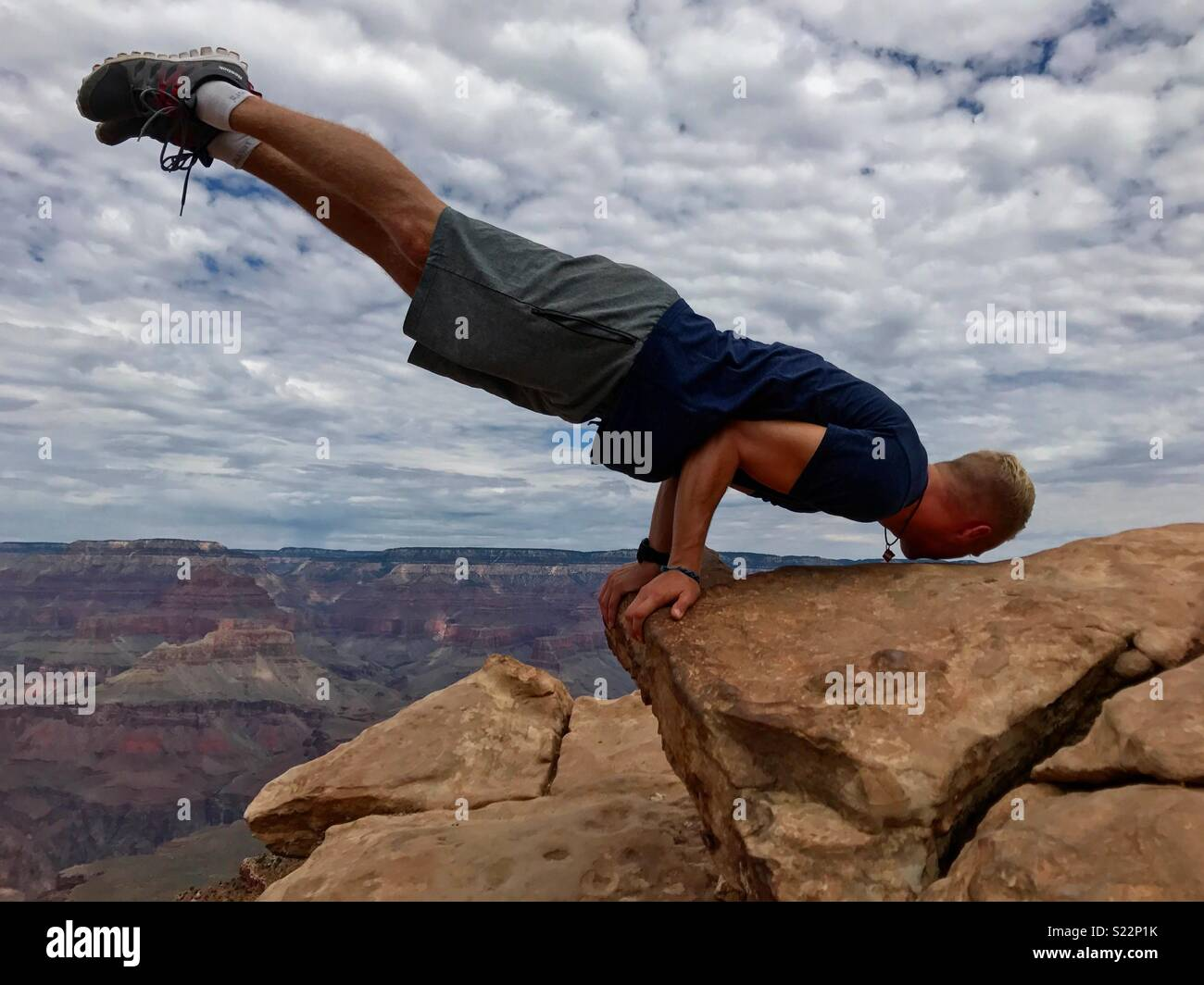 Parkour Grand Canyon Immagini Stock
