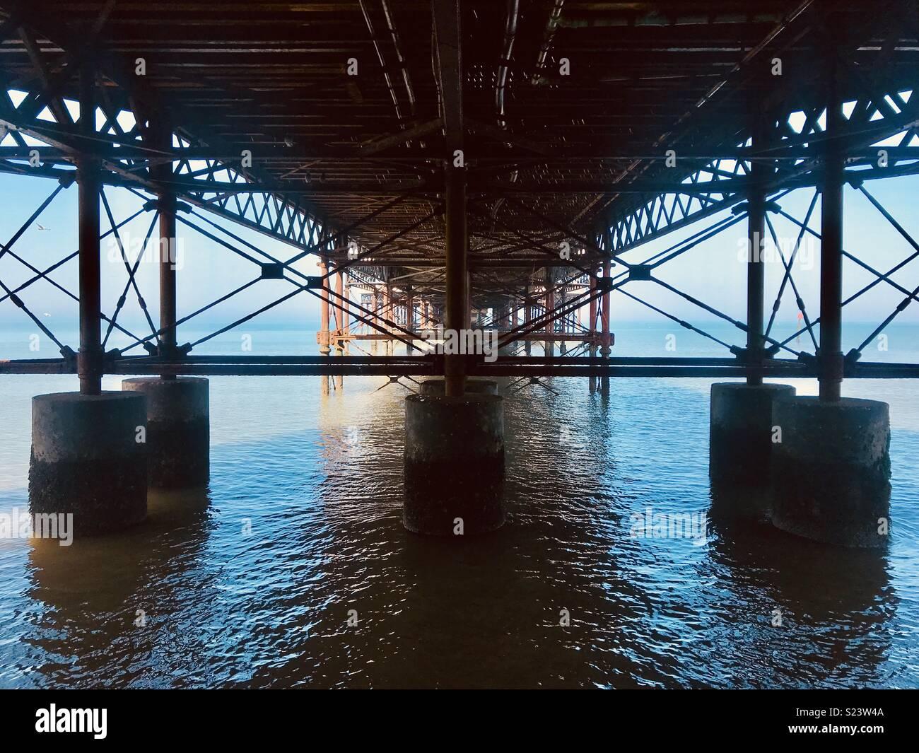 Pier struttura. Foto Stock