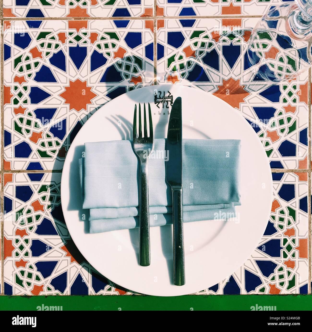 Sala da pranzo del Cairo Immagini Stock