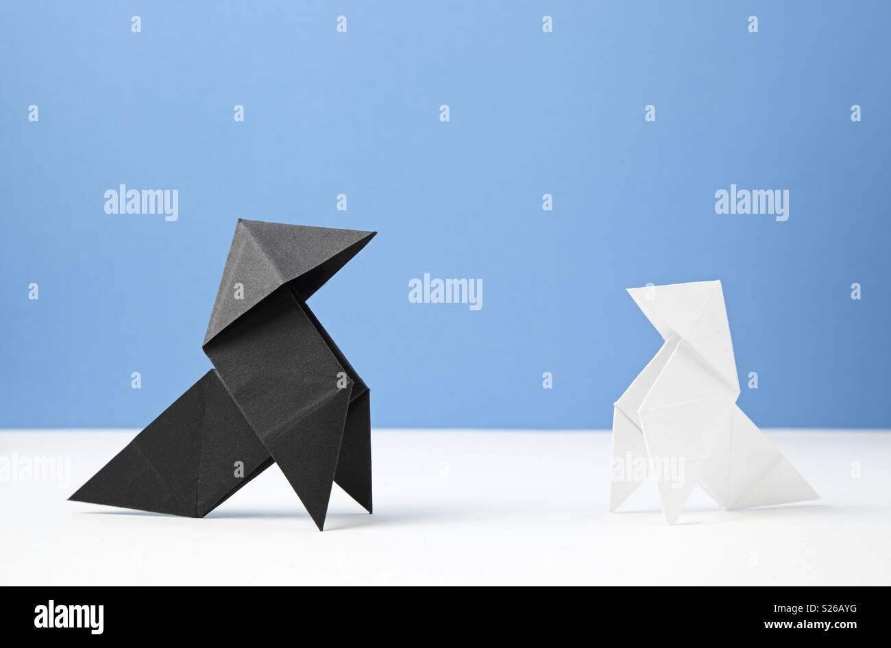 Carta cravatte Immagini Stock